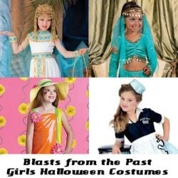 blasts from the past - girls Halloween costumes