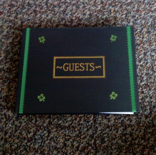 Guest book.