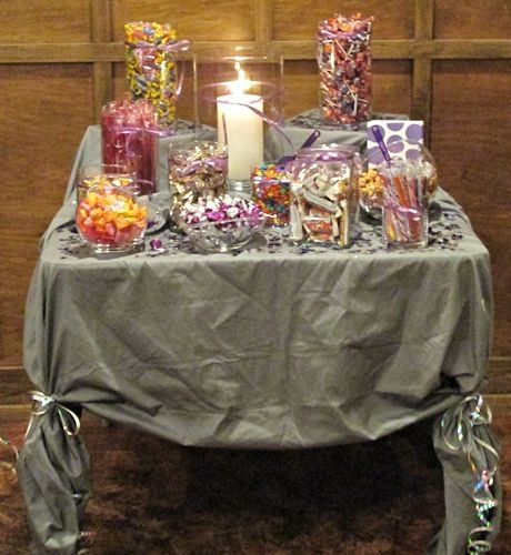 Sweet Sixteen Ideas - Candy Table