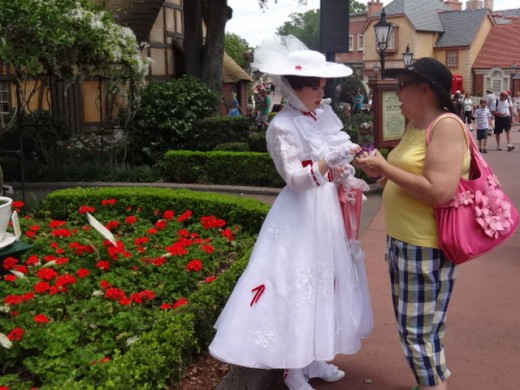 Lucy Chit-chatting with Her Good Friend Mary Poppins