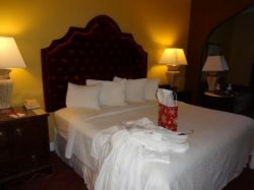 Our premium romantic room in the Casa Monica hotel.  St. Augustine, Florida