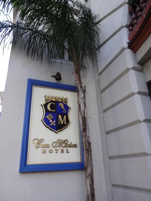 Additional side entrance into Casa Monica