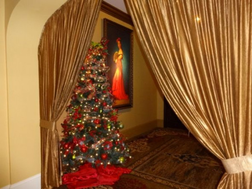 Casa Monica lounge area all decked out for Christmas
