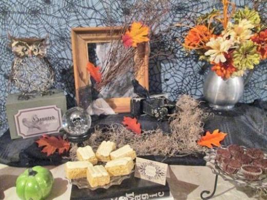 Vintage Halloween Buffet Table