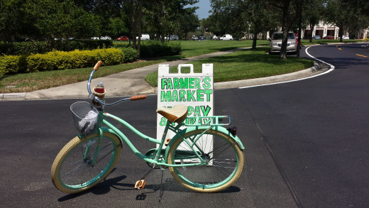 I Ride to the Farmers Market Every Monday and Friday!