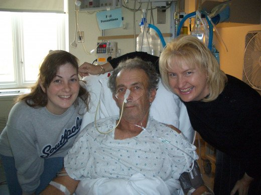 My Dad, My Sister and I at Danville Medical Center