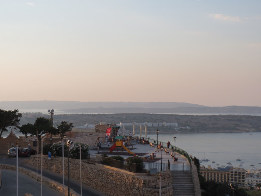 The Playground at Mellieha, with a view of Ghadira Bay