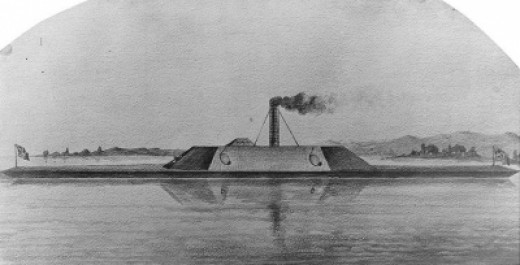 19th Century Drawing of the CSS Albemarle