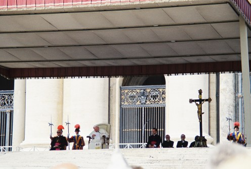 Closer view of the Pope.