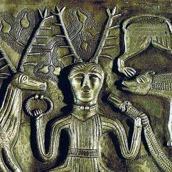 Possible depiction of Cernunnos, close-up