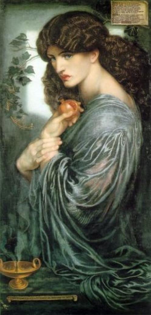 Proserpina, a Roman goddess based on the myth of Persephone.