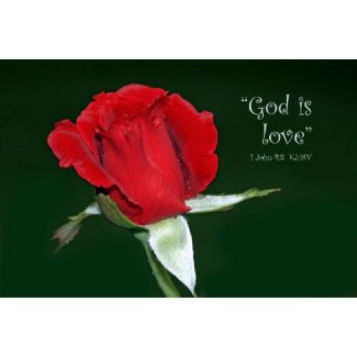 God is love Scripture poster
