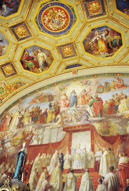 A wall & part of the ceiling.