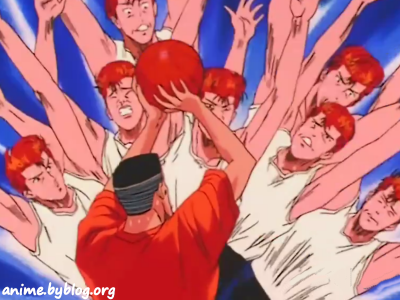 Slam Dunk's Hanamichi Sakuragi - possibly the most fired-up redhead in anime history