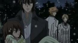 Kaname with Yuki in his arms