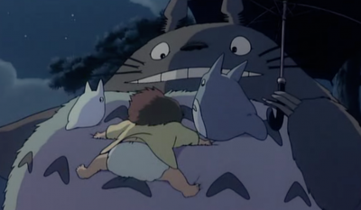 Jumping on Totoro! I wish I can try it! =P