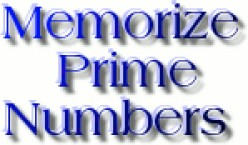 How to Memorize Prime Numbers