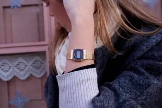 Thin bracelet simple Casio