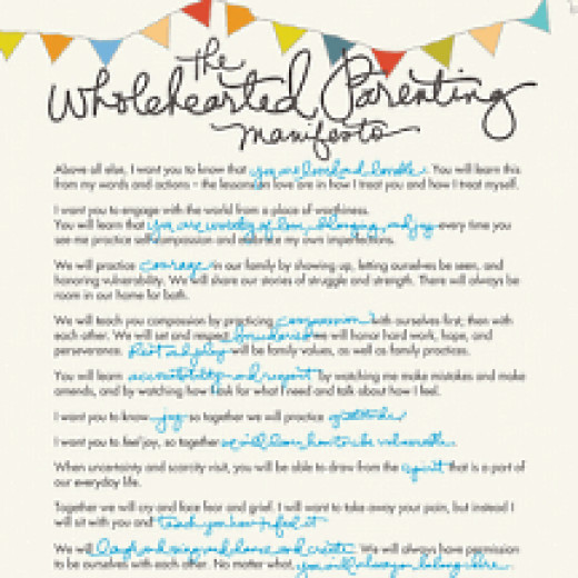 Parenting Manifesto free download from Brene Brown