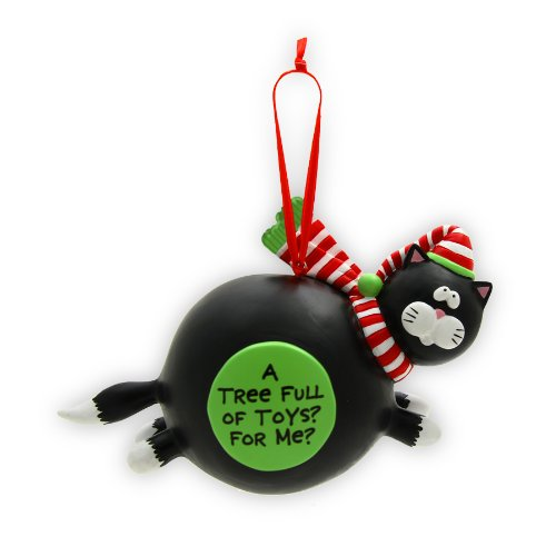Enesco Our Name is Mud By Lorrie Veasey For Me Cat Hanging Ornament, 4-3/4-Inch