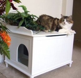 Designer Catbox Litter Box Enclosure - White