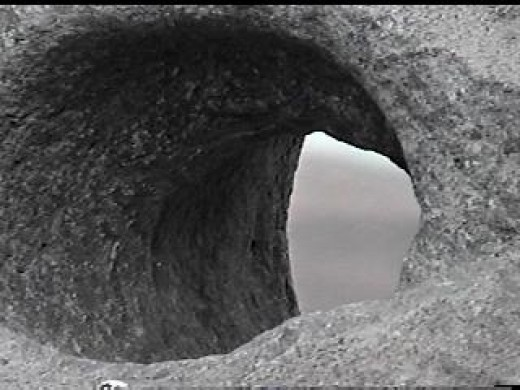 Close view of a hole of an Anchorstone