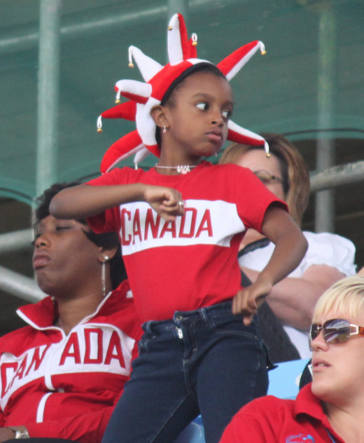 A Young Canadian Fan Leads The Cheers