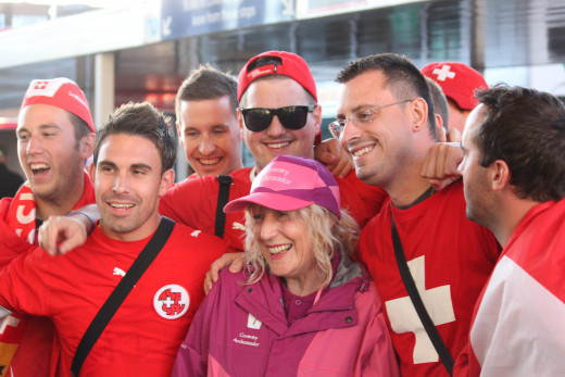 Swiss Fans With A GamesMaker