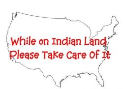 You walk where our Native American Ancestors walked
