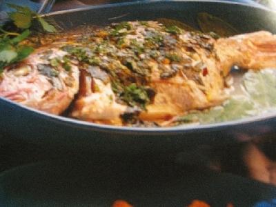 Baked lemon and sage fish. Photo Credit - Elsie Hagley