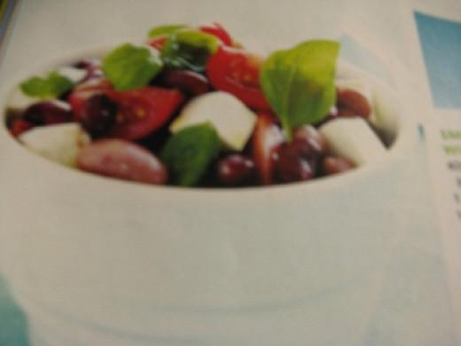 Mixed bean tomato feta salad. Photo Credit - Elsie Hagley