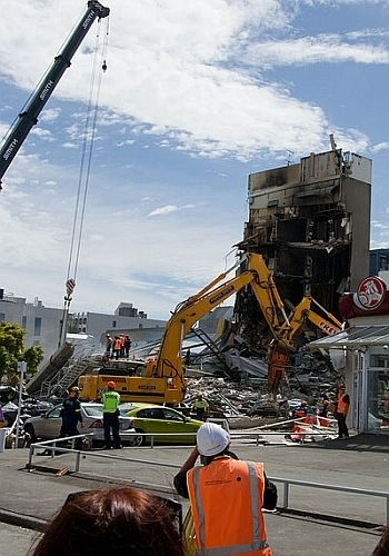Ruins of the Canterbury Television building, 24 February 2011. Photo Credit - http://en.wikipedia.org/wiki/2011_Christchurch_earthquake