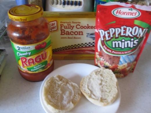 Mini Pizza ingredients