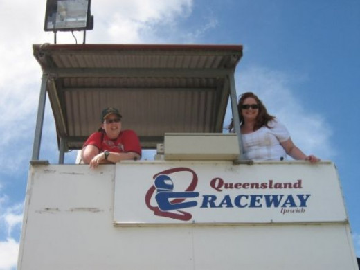 With my mate Kelly out at Queensland Raceway, Ipswich, Queensland.