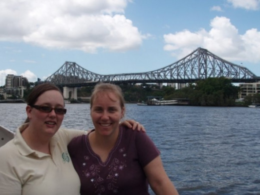 With my mate Nicole infront of the Storey Bridge, Brisbane, Queensland.