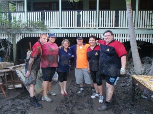 "Part of the ""Mud Army"" post Brisbane floods 2011."