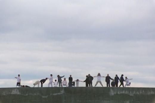 """Seapiece"" - directed by Deborah Claire Procter, Aberystwyth Harbour 2002"