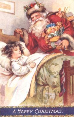 Vintage Santa Clause Postcard