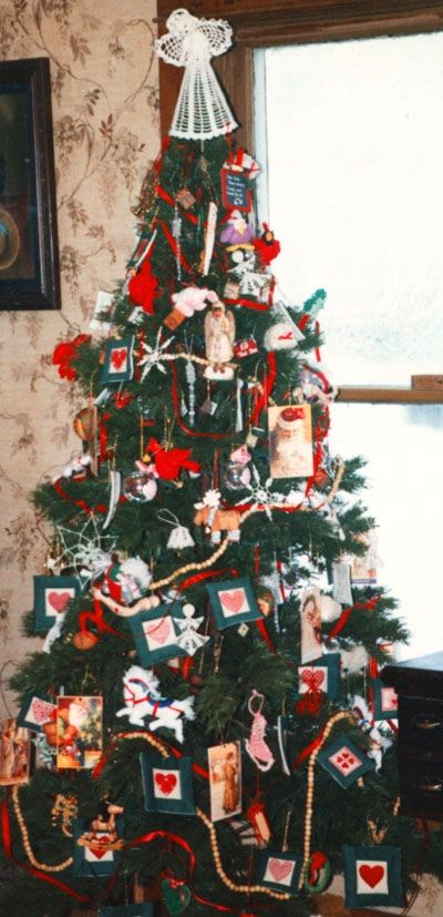 Our Christmas Tree FUll Of Handmade Ornaments