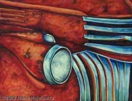 1946 Chevy Light duty (a painting of my truck)