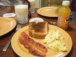 One of the most relaxing mornings I have ever had at Disney was when we made breakfast before going to the parks.