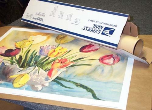 packing and shipping art using mailing tubes