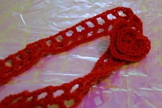 Red hair band, perfect for Valentine's Day!