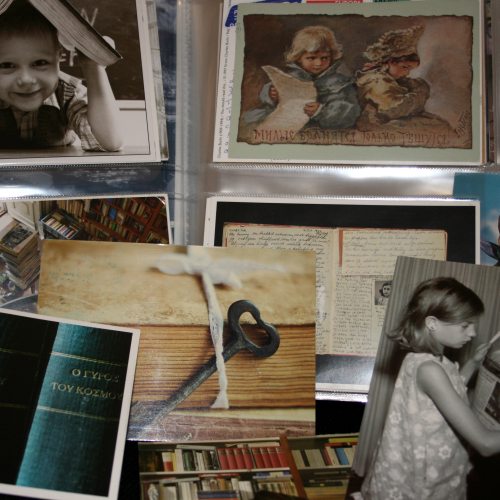 Some postcards on the theme of reading and books