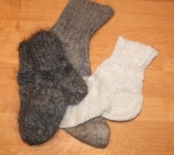 Goat down socks as an item of prime necessity