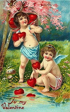Victorian Valentine's Day Card