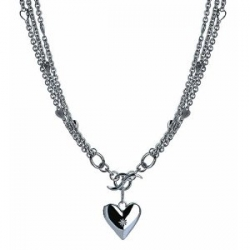 Silver locket necklace