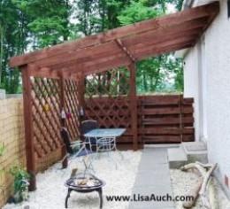 Build your own timber framed garden pergola for Build your own pergola