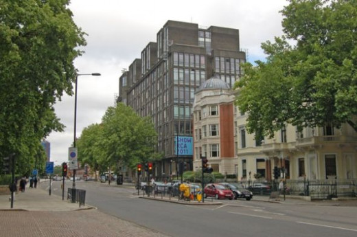 Royal College of Art from Hyde Park