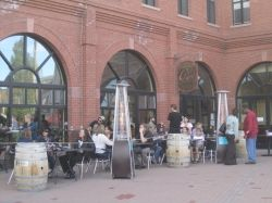 Outdoor dining at Cuvee 928